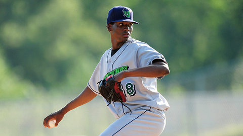 Jose Urena is 4-3 with a 2.57 ERA for Class A Greensboro this year.