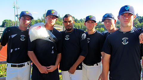"The AquaSox bullpen has dubbed itself ""The Nasty Boys."""